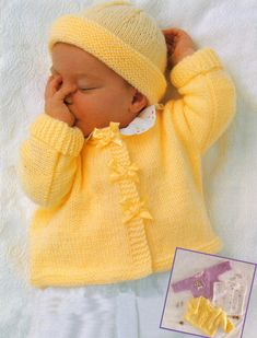 Baby Knitting Patterns Dress Jimmy Baby Sweater Set Free Knitting Pattern at Jimmy Beans Wool Baby Sweater Patterns, Knit Baby Sweaters, Knitted Baby Clothes, Baby Patterns, Knit Patterns, Baby Knits, Knitted Baby Cardigan, Cozy Sweaters, Creative Knitting