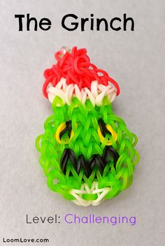 How to Make the Grinch Bracelet #kids #crafts #stretchband #loopband #loombracelet #christmas