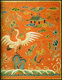 Color Inspiration for Carol Simmons' Korean Embroidery Series Embroidery Applique, Machine Embroidery Designs, Embroidery Stitches, Embroidery Patterns, Violin Painting, Tiger Rug, Korean Art, Korean Traditional, Book Crafts