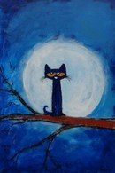 Might get this framed for Brooke. she loves Pete! Pete the Cat Illustrations, Illustration Art, Whimsical Art, Art Activities, Animal Paintings, Cat Art, Art Lessons, Painted Rocks, Painting & Drawing