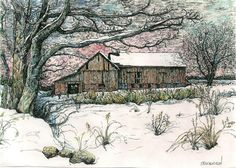 I love pen & ink with water color!