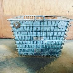Organize, store and conceal all your household items in these amazing vintage locker baskets! The metal sheet in front is perfect to hide your stored items and create an amazing rustic distressed industrial look!!