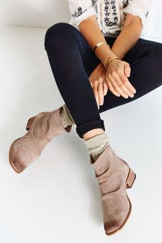 slouchy booties
