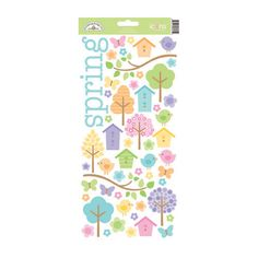 Doodlebug Design - Hello Spring Collection - Sugar Coated Cardstock Stickers - Icons at Scrapbook.com $3.99