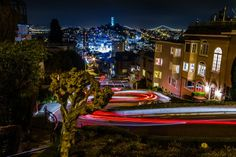 City lights leaving trails. LOVE IT. #SanFrancisco #California #CityLights