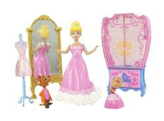 Disney Princess Favorite Moments Fairytale Scenes Cinderella Playset by Mattel. $13.65. Help Cinderella get ready for the ball with mirror and wardrobe.. Perfect happily-ever-after adventure playset. Girls can recreate their favorite fairytale moments. Collect all your favorite Disney Fairytale Moments Scenes. Play out scenes with beautiful glittery furniture and characters. From the Manufacturer Disney Princess Favorite Moments Fairytale Scenes Cinder...