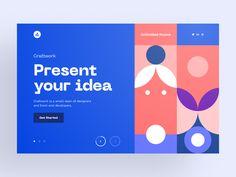 "via Muzli design inspiration. ""Weekly Design Inspiration is published by Muzli in Muzli - Design Inspiration. Design Web, Web Design Quotes, Web Design Company, Dots Design, Print Design, Design Ideas, Webdesign Inspiration, Web Inspiration, Dashboard Interface"