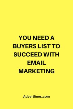 You need a buyers list to succeed with online / email marketing.  #Marketing #MarketingTip  #MarketingTips #MarketingSecrets