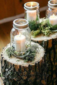 Gorgeous Mason Jars Wedding Centerpieces ❤ See more: http://www.weddingforward.com/mason-jars-wedding-centerpieces/ #weddings #weddingdecoration