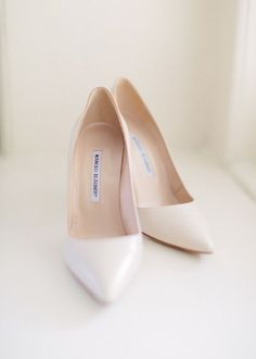 Sweet and Simple Manolo Blahniks -20 Wedding Shoes that Wow - Style Me Pretty