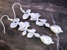 orchid earrings from Etsy