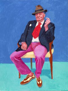 See portraits of the likes of Barry Humphries at David Hockney's RA exhibition