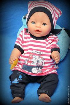 """Комплект """"Пляжное настроение"""" - одежда для кукол,кукольная одежда,беби бон"""