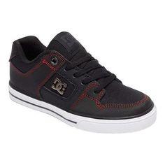 Mens DC Men's Pure Skate Shoe Black/Black/White Outlet Shop Size 44