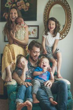 C'est une famille heureuse.