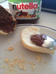 Pane&Nutella! F.E.L.I.C.I.T.A'! #pane #nutella #food