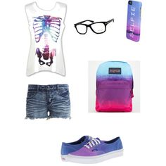 A fashion look from December 2014 featuring VILA shorts, Vans sneakers and JanSport backpacks. Browse and shop related looks.