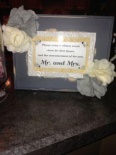 Wedding wand sign