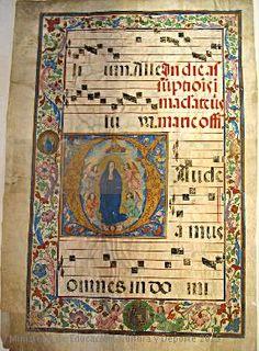 Folio de pergamino representando la Coronación de la Virgen por Dios Padre.  CE22543