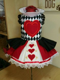 Red Queen Dog Costume by digginitdesigns on Etsy