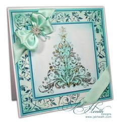 Baroque Christmas Tree by Indigo Blu Stamps.