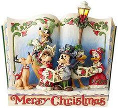 Enesco Disney Traditions by Jim Shore Storybook Christmas Carol Jim Shore Christmas, Christmas Carol, Disney Christmas, Christmas Ideas, Storybook Online, Mickey Mouse Y Amigos, Classic Disney Characters, Disney Traditions, Mickey And Friends