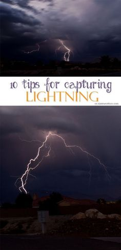 10 Tips for Capturing Lightning - If you need photography tips to capture all those spectacular thunderstorms this summer, these 10 Tips for Capturing Lightning will help you do that. on kleinworthco.com