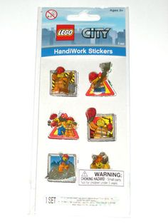 LEGO City Handiwork 3D Puffy Construction Minifigure Stickers BRAND NEW SEALED $2.54