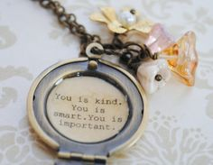 The Help  Women's Locket  You is smart you by busybeezchickadeez,