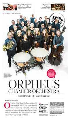 Orpheus Chamber Orchestra: Champions of Collaboration|Epoch Times #Arts #newspaper #editorialdesign