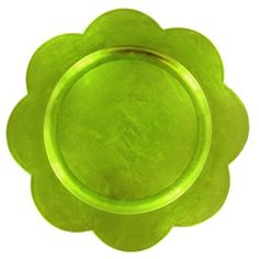 "Bright Ideas by Brother Sister Design Studio 13"" Green Flower Charger 