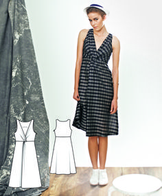 This dress is a fun challenge with a pattern magic style knot in the front…