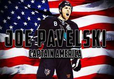 Joe Pavelski: CaptainAmerica Joe Pavelski, San Jose Sharks, National Hockey League, Hockey Players, Ice Hockey, Nhl, Captain America, My Girl, Sports