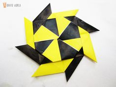 Okato World: DIY & Crafts: Origami 8 point Star / Estrella de 8 puntas