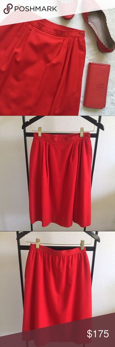 Pendleton Woolen Mills Skirt Red Pendleton Woolen Mills vintage wool skirt. Made in U.S.A. Size 6. High waist, measures 24-inches. Length measures 25-inches.   ✨10%✨off with bundle!  ⭐️Suggested User⭐️ 💌Fast Shipping💌 💎Non-Smoking💎 🚫No trades/PayPal🚫 🎀Open to fair offers🎀 📷Instagram: laurentopor📷 💟Tumblr: nearlynewbylo💟  ✨ Happy Poshing ✨ Pendleton Skirts