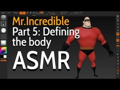 Incredible - Part Defining the body - ASMR Modelos 3d, Animation Tutorial, Hair Creations, Blender 3d, Character Creation, 3ds Max, Asmr, Zbrush, Rigs