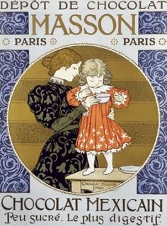 vintage chocolate ads and poster design | Beautiful French Chocolat Poster by deidre
