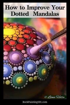 Mandala Art Lesson, Mandala Painting, Pebble Painting, Painting Flowers, Stone Painting, Pebble Art, Matte Painting, Dot Painting On Rocks, Mandala Drawing