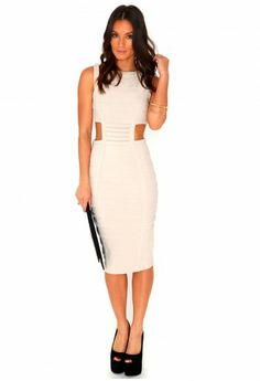 1a68b969c156a2 Karrin Cut Out Bandage Bodycon Dress - Dresses - Missguided