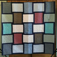 Custom Memory Quilts are a great way to memorialize a loved one or to make use of clothing outgrown by a child. Denim Quilt Patterns, Plaid Quilt, Antique Quilts, Vintage Quilts, Quilt Storage, Sewing Material, Book Quilt, Memory Quilts, Sewing Projects