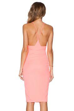 AQ/AQ Crime Mini Dress in Acid Pink