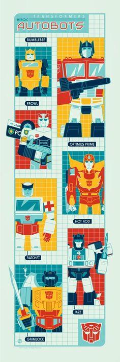 Transformers - Autobots by Dave Perillo