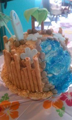 Sydnee's 7th Bday cake (Luau party)