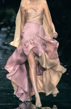 Armani Privé Couture S/S 2007.  I LOVE LOVE LOVE the color and the ruffles, SO cute!!!