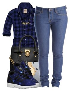 """11415"" by polyvoreitems5 ❤ liked on Polyvore featuring Michael Kors, Wrangler and adidas Originals"