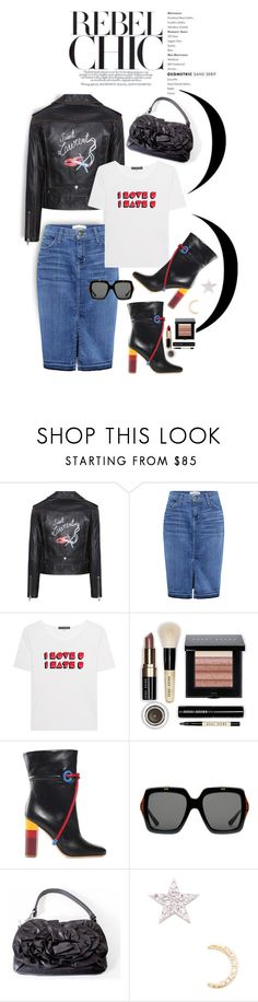 """REBEL CHIC !!!"" by shortyluv718 ❤ liked on Polyvore featuring Yves Saint Laurent, Current/Elliott, AlexaChung, Bobbi Brown Cosmetics, Malone Souliers and Gucci"