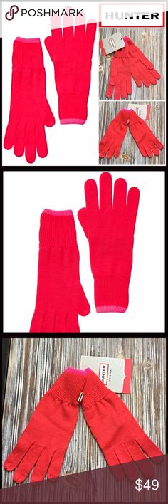 ❗️1-HOUR SALE❗️HUNTER ORIGINAL Neon Wool Gloves 💟NEW WITH TAGS💟  RETAIL PRICE: $60   ***Matching hat listed separately   HUNTER ORIGINAL Wool Gloves   * Contrasting Neon trim   * Knit construction   * Stretch-to-fit   * Tagged size M-L, will fit many   * Super soft & cozy   * Well made & high quality   Material: 100% Extra Fine Wool  Color: Coral red & neon pink Item#H94400  🚫No Trades🚫 ✅ Offers Considered*✅  *Please use the blue 'offer' button to submit an offer. Hunter Boots…