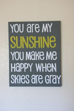 You Are My Sunshine Canvas by sunshinecreated on Etsy, $36.00