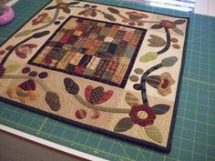 Five Cent Fairy Garden - Simple Blessings by Kim Diehl Wool Quilts, Lap Quilts, Small Quilts, Mini Quilts, Applique Quilts, Quilting Projects, Quilting Tutorials, Primitive Quilts, Country Quilts