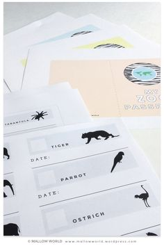 DIY Zoo Passports. Great for all ages and lots of fun to complete.